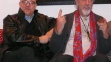 Giancarlo Passarella e Shel Shapiro sul divano (1)