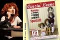 Cinzia Leone e la locandina dello spettacolo