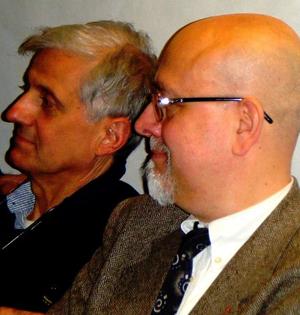 Giancarlo Passarella (dx) con Paolo Scarsella, organizzatore del convegno sulla sincronicità