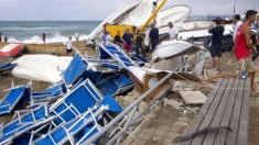 Maltempo: tromba d'aria a Santa Severa, volano barche